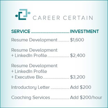 resume coaching services